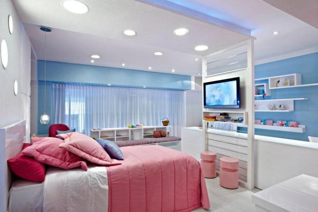 quartos para meninas azul